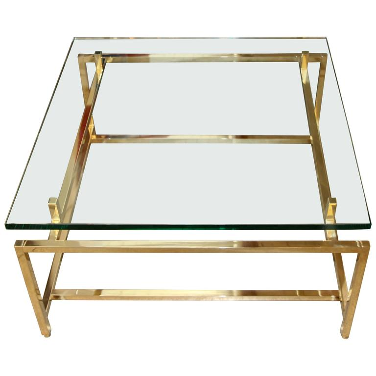 Vintage Brass Cocktail Table