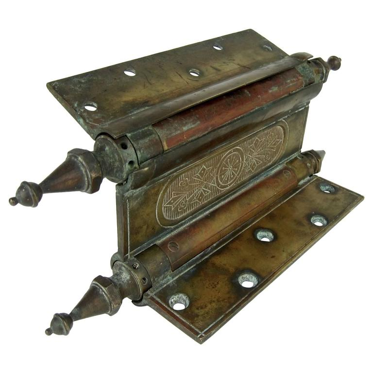 Enormous Eastlake Antique Door Hinge, 1880s For Sale - Enormous Eastlake Antique Door Hinge, 1880s For Sale At 1stdibs