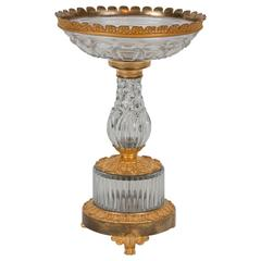 Early 19th Century Gilt Bronze Cut-Glass Centerpiece