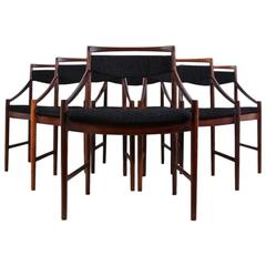 Set of Six Rosewood Dining Chairs by McIntosh, circa 1950