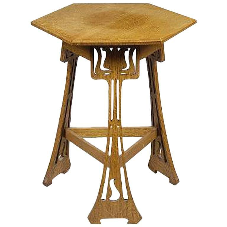 Beau Arts And Crafts Liberty And Co U0027Sigebertu0027 Oak Side Table ...