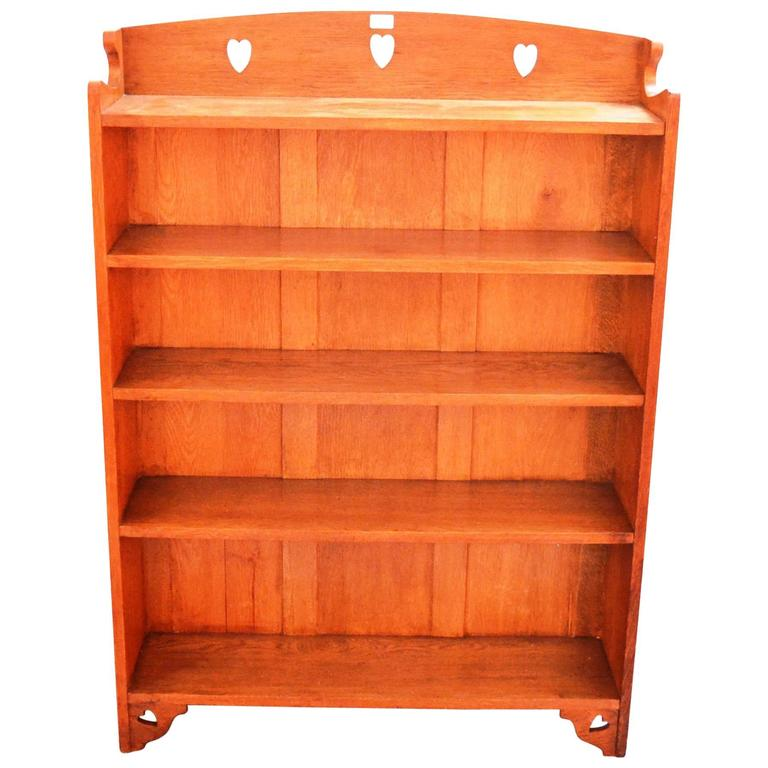 Good arts and crafts oak bookcase by liberty and co at for Arts and crafts bookcase