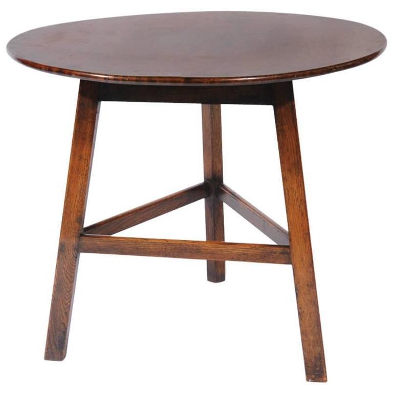 Rare arts and crafts heals oak cricket table for sale at for Arts and crafts cricket
