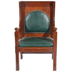 Liberty and Co. A Good Quality Arts and Crafts Oak Armchair.