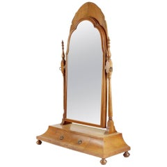 Good Quality Walnut Dressing Table Mirror in the Style of Sir Robert Lorimer