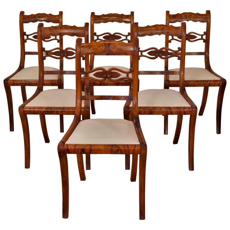 Set of six dining chairs biedermeier germany