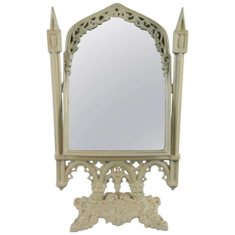 Large Antique Store Display Counter Top Mirror At 1stdibs