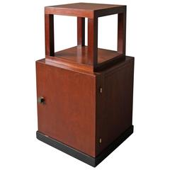 French Art Deco Two-Tier Side Table / Nightstand