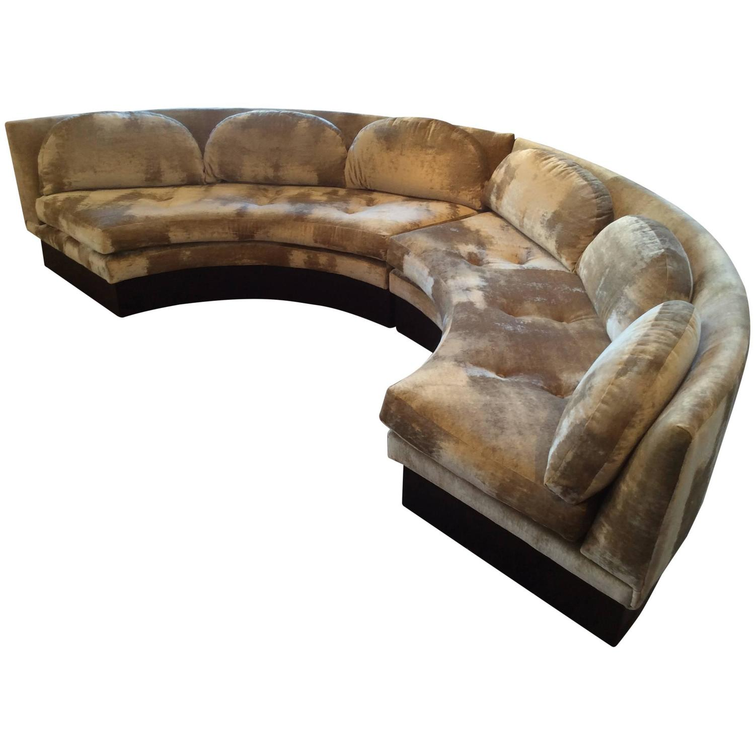 Vintage Curved Sectional Sofa by Adrian Pearsall for Craft