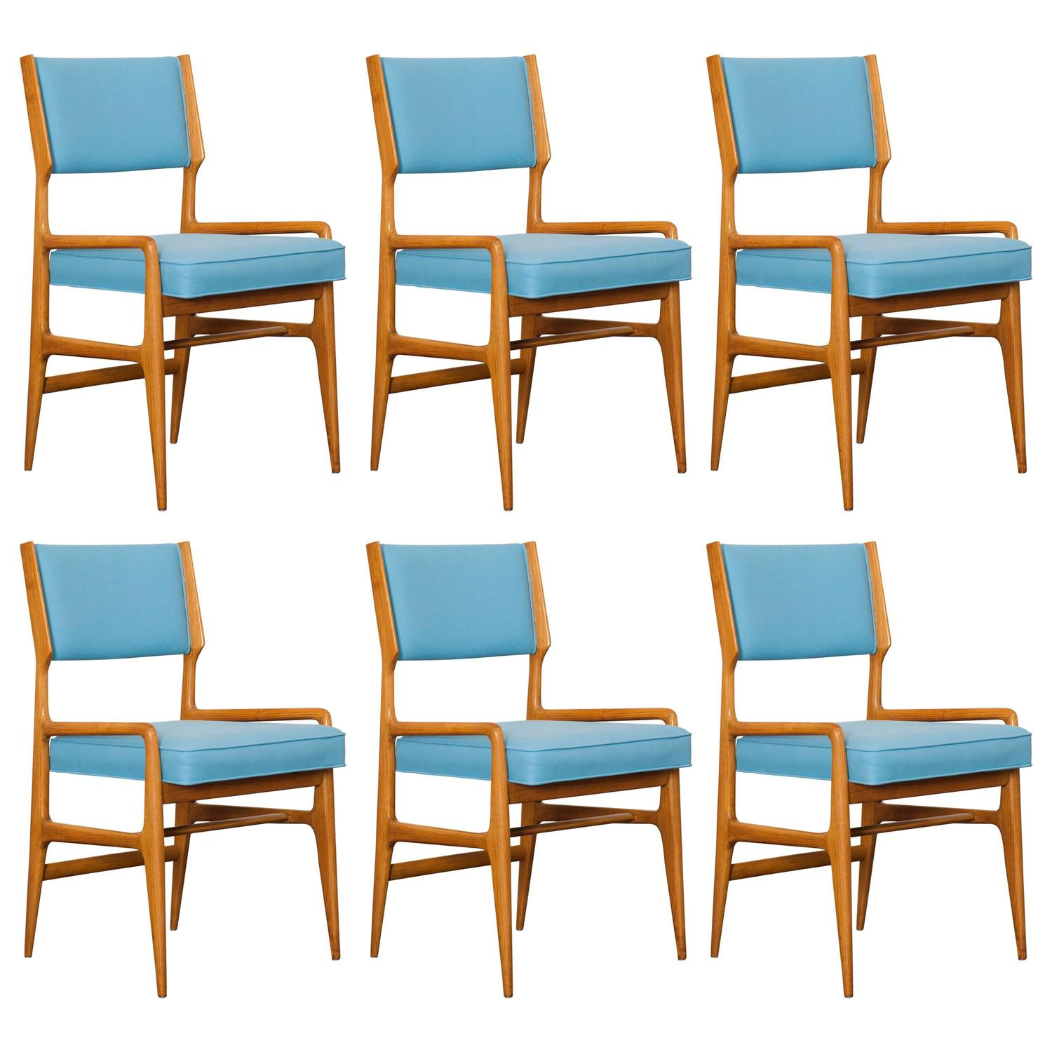 set of six dining chairs by gio ponti at 1stdibs - Set Of Six Dining Room Chairs