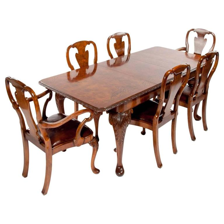this quality walnut dining table and eight chair set is no longer