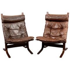 "Pair of ""Siesta"" Scandinavian Lounge Chairs by Ingmar Relling"
