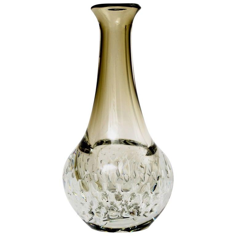1980s German Bubble Glass Vase For Sale