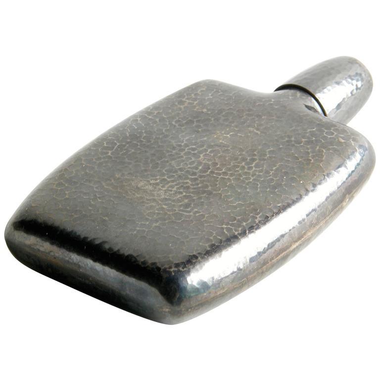Hammered Sterling Flask