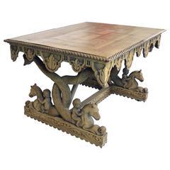 19th Century Renaissance Revival Table