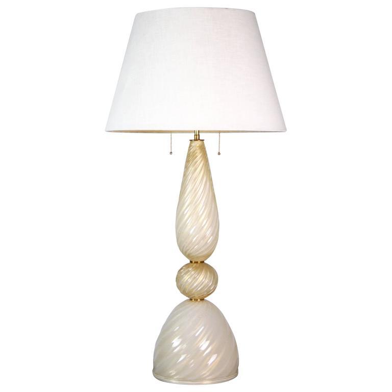 "Large ""Polvera D'oro"" Murano Glass Lamp"