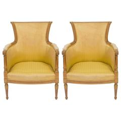 Pair of Antique French Regency Armchairs