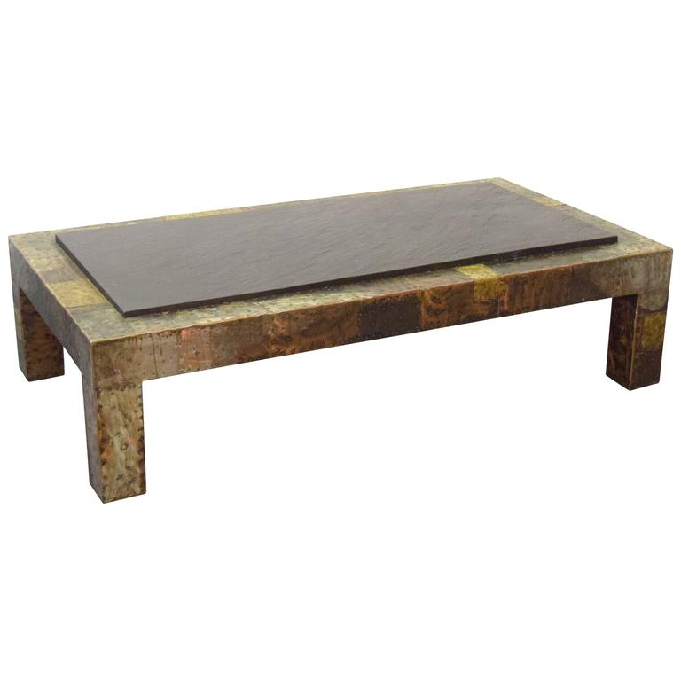 Large paul evans slate top patchwork coffee table for sale at 1stdibs Slate top coffee tables