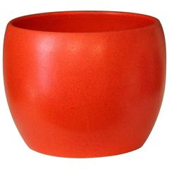 Gainey Ceramics Vintage Chrome Orange Large Planter Jardiniere