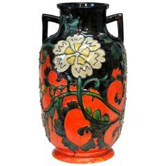 Awaji Pottery Japanese Art Deco Pottery Vase