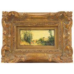 20th Century Mediterranean Landscape Miniature Painting by Alexandre