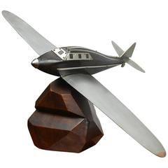 Art Deco Wooden Airplane Model