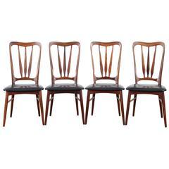 Mid-Century Modern Danish Set of 4 Chairs in Rio Rosewood Model Ingrid by Niels