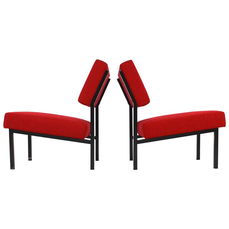 Pair of Martin Visser for 't Spectrum Lounge Chairs, Netherlands, 1950s