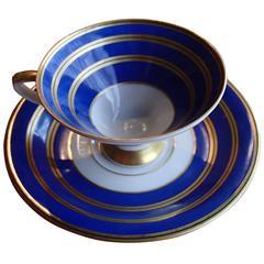 20th Century Coffee Cup Bavaria Cobalt Blue/Gold Johan Seltmann Vohenstrauss
