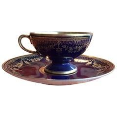 20th Century Bavaria Jaegers Coffee Cup Cobalt Blue/Gold