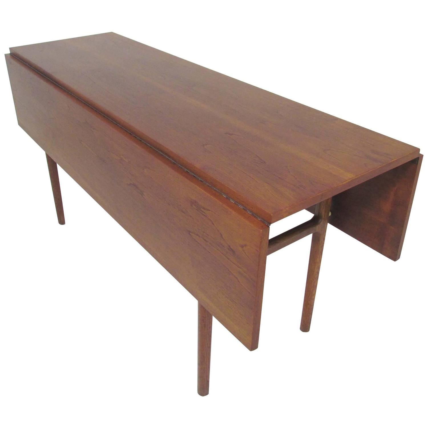danish teak drop leaf harvest dining table circa 1950s for sale at 1stdibs. Black Bedroom Furniture Sets. Home Design Ideas