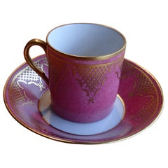 20th Century Coffee Cup Langenthal Hand-painted