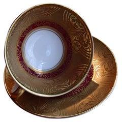 20th Century Coffee Cup TRETTAU Bavaria Real Gold Acid
