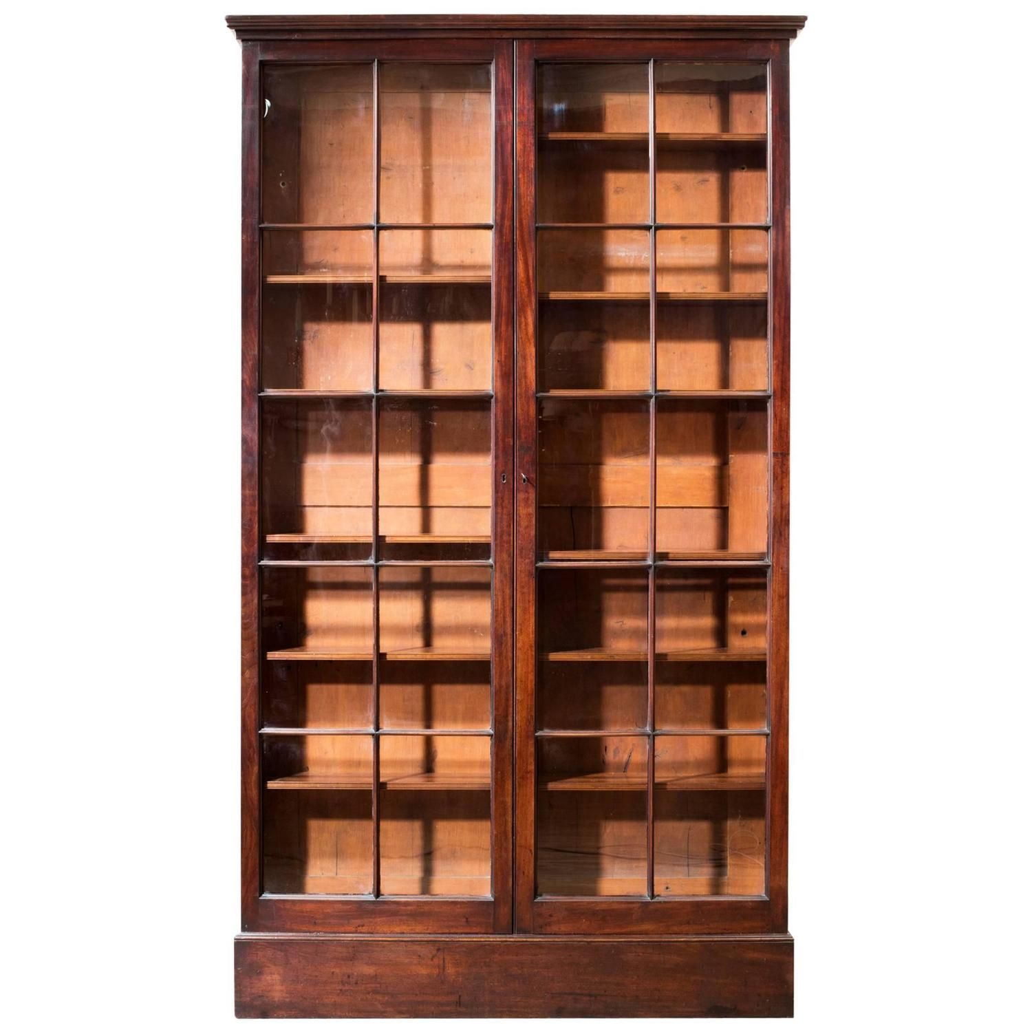 Wonderful image of Georgian Mahogany Bookcase For Sale at 1stdibs with #BE510D color and 1500x1500 pixels