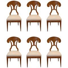 Set of Six Biedermeier Style Chairs