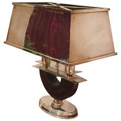 Macassar and Silver Lamp by Maison Jansen