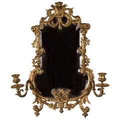 Table Mirror in Bronze with Candleholders, France Louis XVI Style, 19th Century