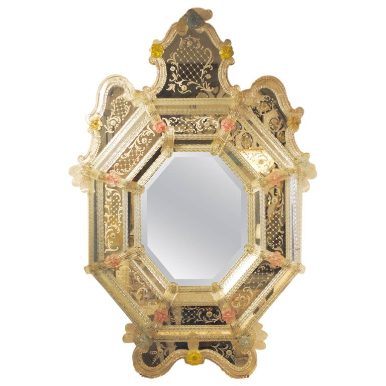 19th Century Venetian Mirror For Sale