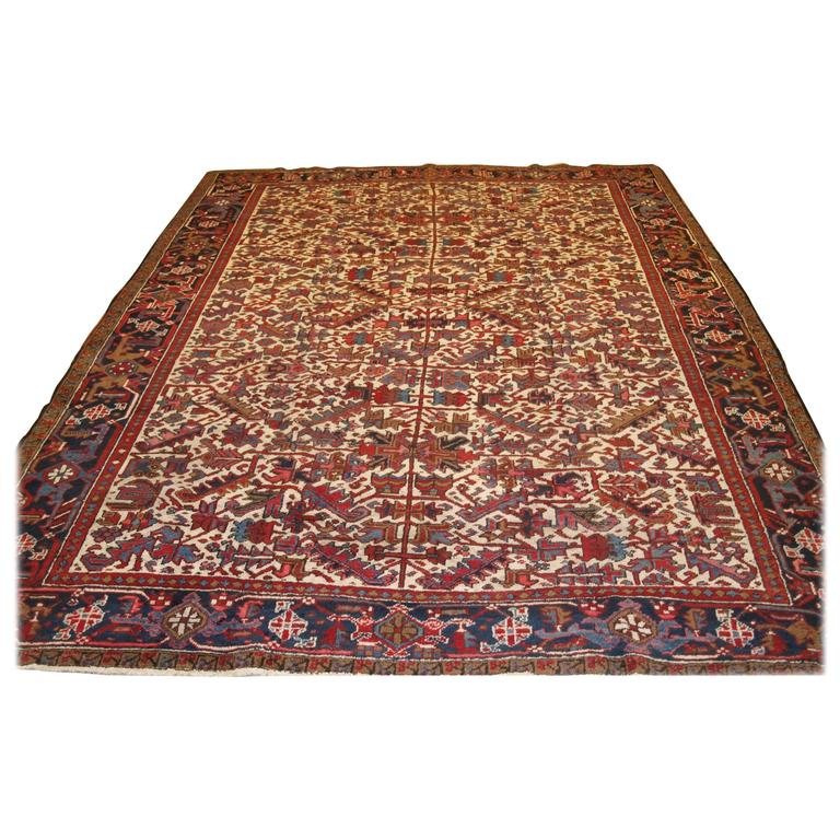 Old Heriz Carpet With A Traditional All Over Design At 1stdibs
