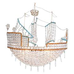 Beaded Glass Boat Chandelier
