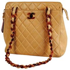 Chanel, Paris, Quilted Cream Leather Bag