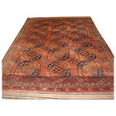 Antique Afghan Village Carpet by the Ersari Turkmen, circa 1900