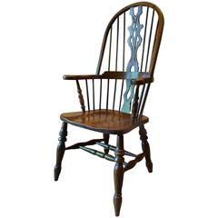 Antique Style Windsor Chair Elm Armchair Stick Back Chair