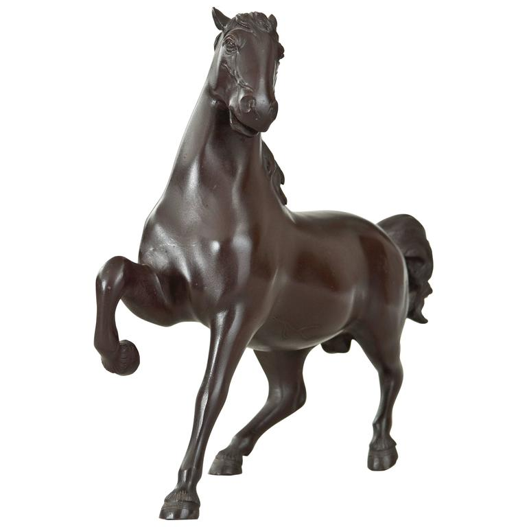 A Japanese Bronze Sculpture of a Horse
