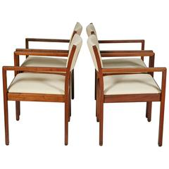 1920s Solid Oak Office Armchair by WH Gunlocke Chair Co For Sale