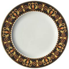 """Versace """"Barocco"""" Pattern Single Luncheon or Salad Plate, Rosenthal Porcelain"""