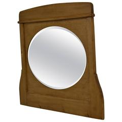 Oval Bevelled Mirror in Pine Frame