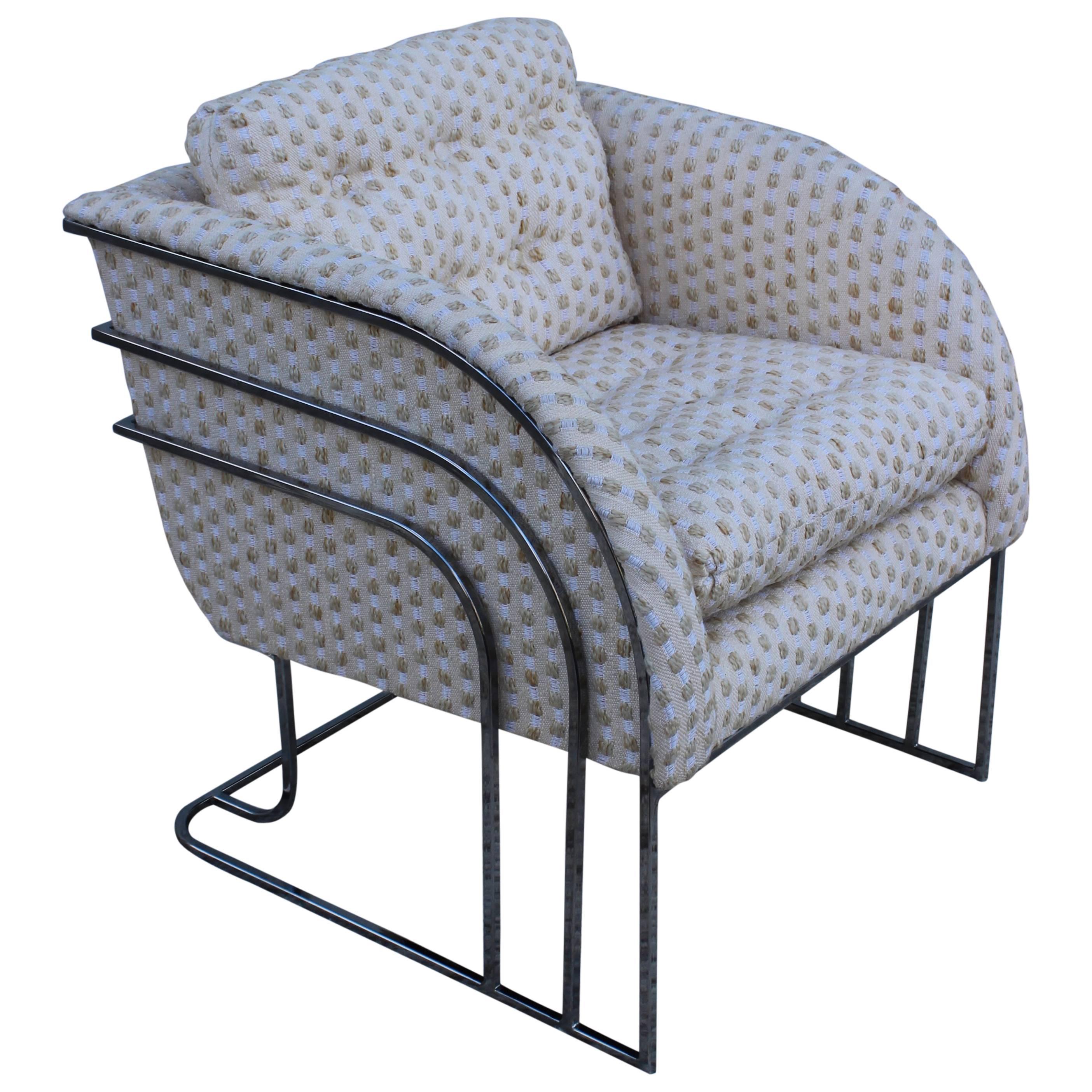 Chrome Lounge Chair by George Mergenov for Weiman/Warren Lloyd