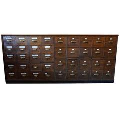 Dutch Oak Apothecary Bank of Drawers, 1900s