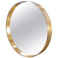 "Large Round ""Oculus"" Mirror in Solid Bronze"
